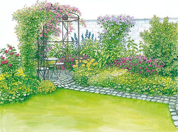 Gartenhof In Neuem Look Garten Gartengestaltung Gartenplanung