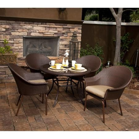 escanaba 5-piece patio dining set, seats 4 - walmart, Esstisch ideennn