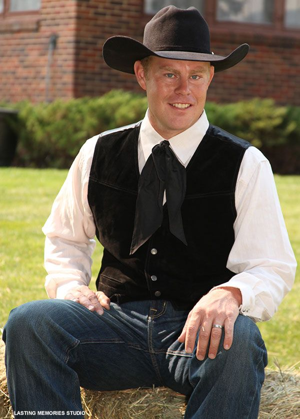 Amp up cowboy-style attire with dressy black best | Grooms | BHB ...