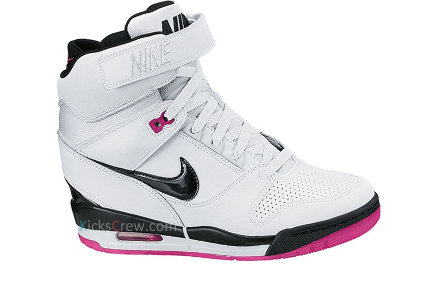 best sneakers 6d7b7 ebc7a Free Shipping Only 69  Nike Wmns Air Revolution Sky Hi White Fireberry Pink  599410 10