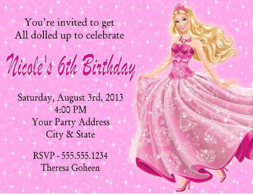 Barbie Mermaid Invitations