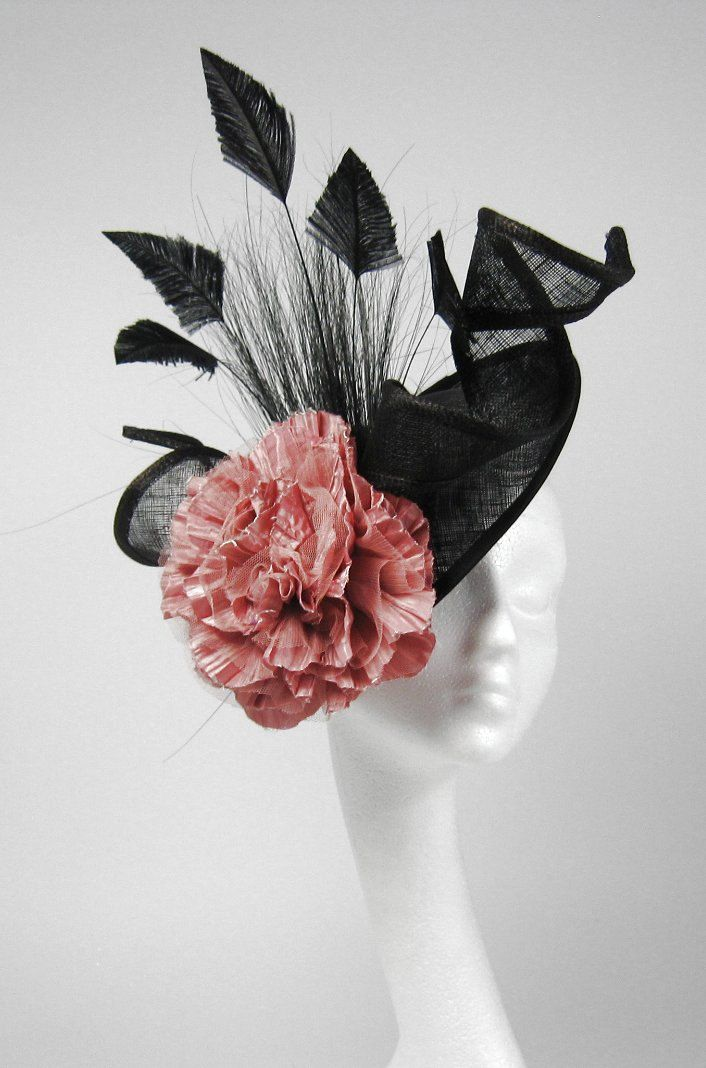 Import Black And Dusky Pink Iliana Fascinator Kentucky Derby Or Wedding Hat On A Headband D456c1aecac94aafebf4 Dusky Pink Fascinator Fascinator