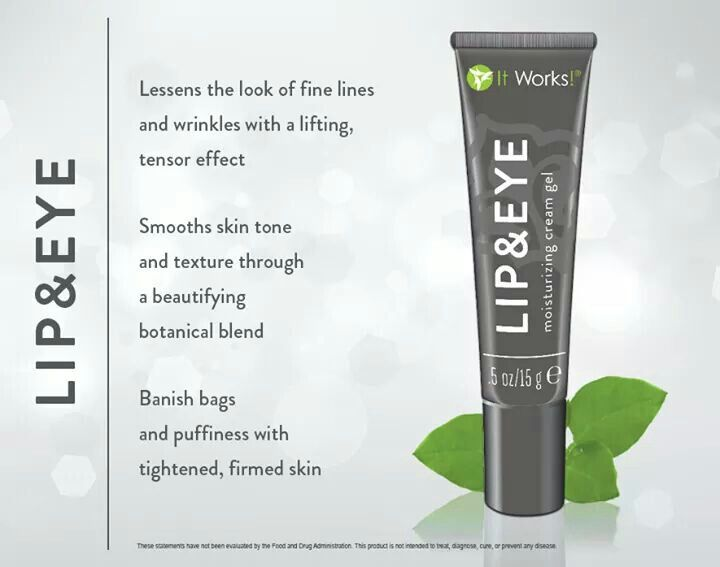 Reduce the look of those awful bags under your eyes, and fine lines with our awesome Lip & Eye gel!  crystalbrettingham.myitworks.com