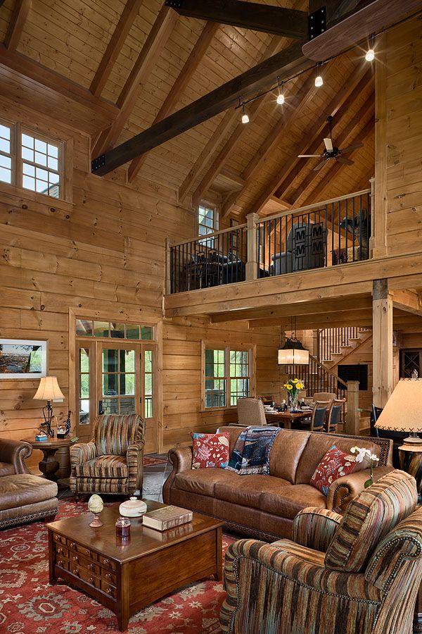 Foster Custom Log Home in 2020   Log homes, Cabin ...