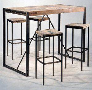 visuel table de bar industrielle - Table Bar Industriel