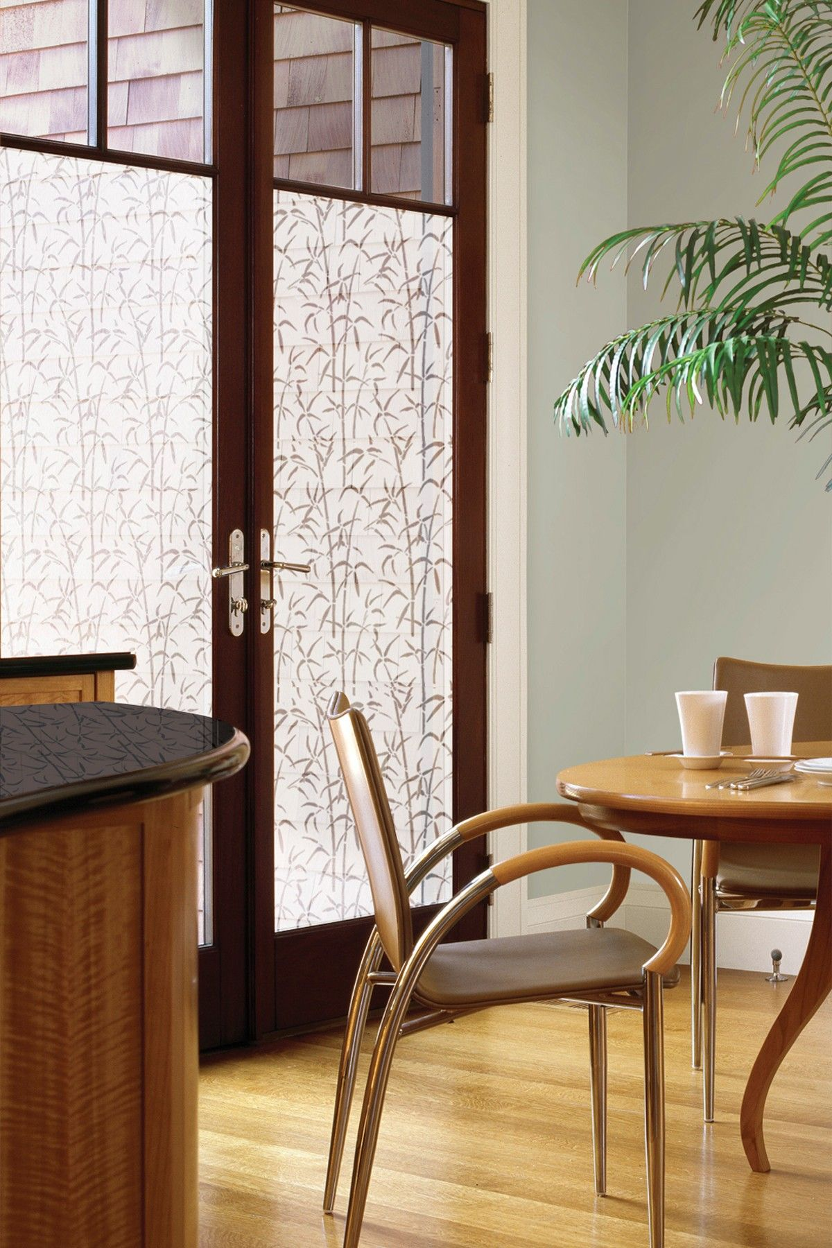 Lakeside Collection Patio Furniture: Static Cling Bamboo Print Door Privacy Film By Brewster