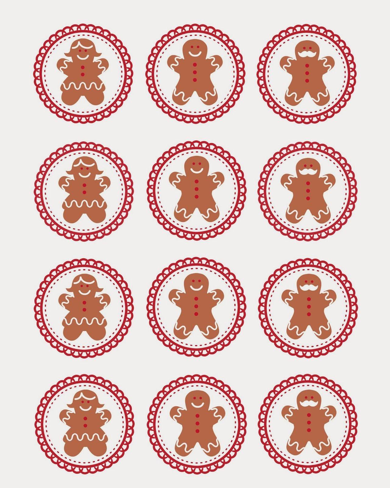 Gingerbread Men Cupcake Topper