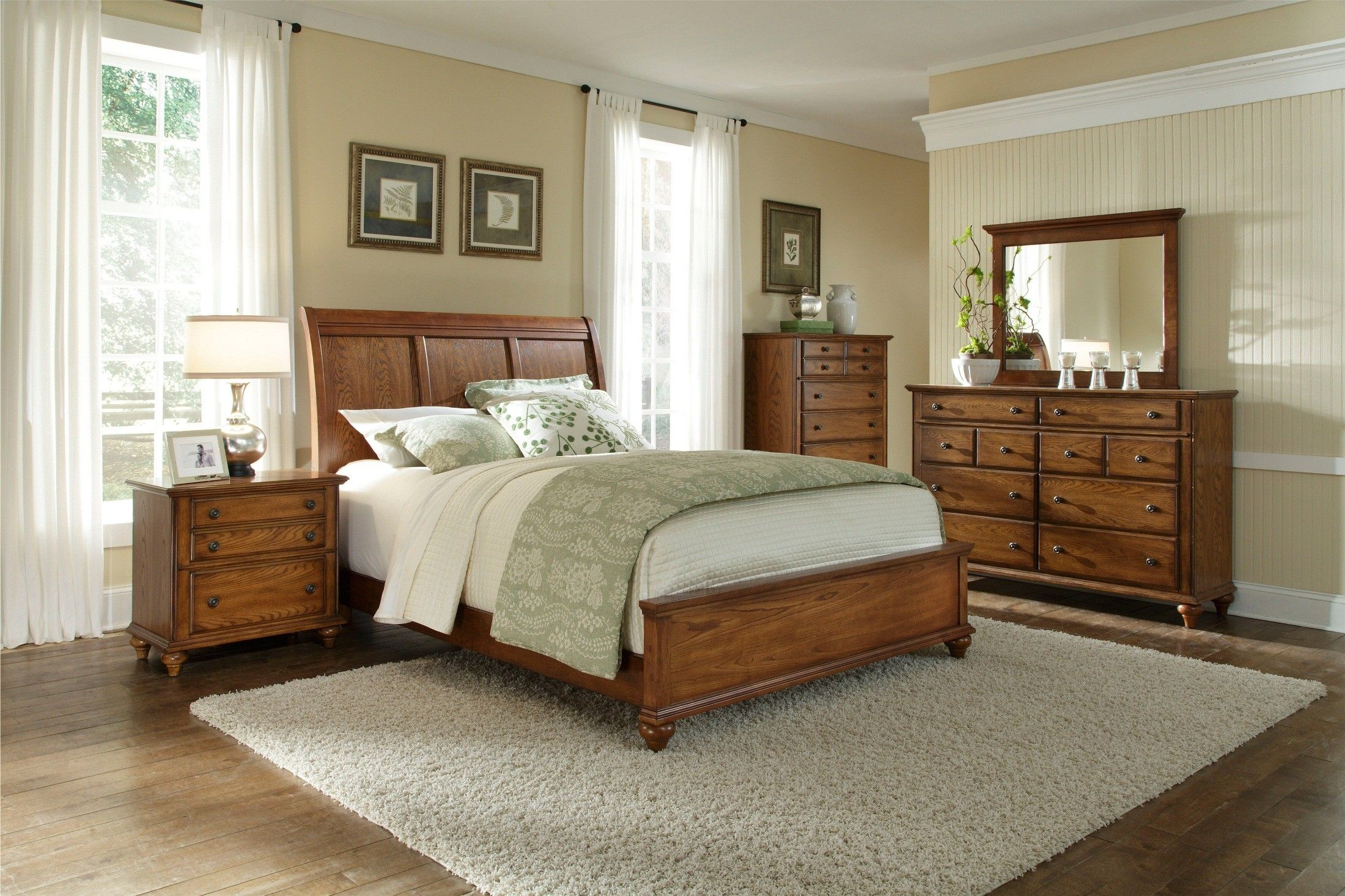 Master bedroom furniture sets  Hayden Place Oak Sleigh Bedroom Set  Indoor Home WishesDecor