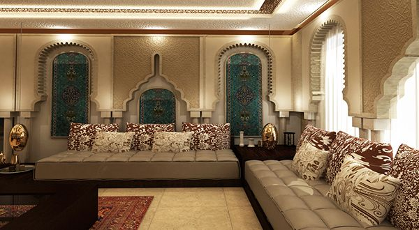 The Elaborate Archways In This Room Defy Categorization But Are Clearly Moroccan Inspired With Splashes Of Lovely Turquoise