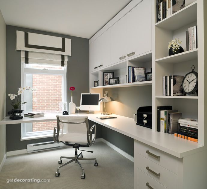 Escritorio estudio biblioteca home office pinterest for Muebles para apartamentos tipo estudio