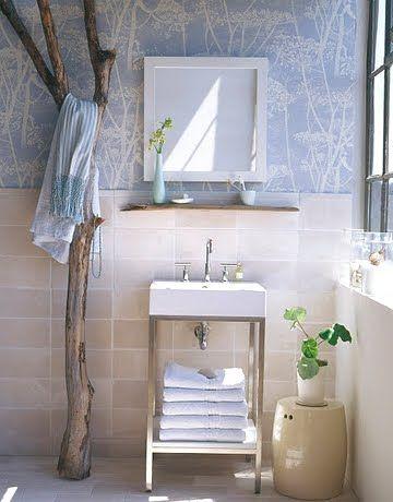 Natural Driftwood For A Spa Like Bathroom Bathroom Decor Bathroom Inspiration Spa Like Bathroom