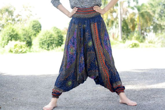 Thai fisherman pants palazzo pants harem by Nidnidshop on Etsy