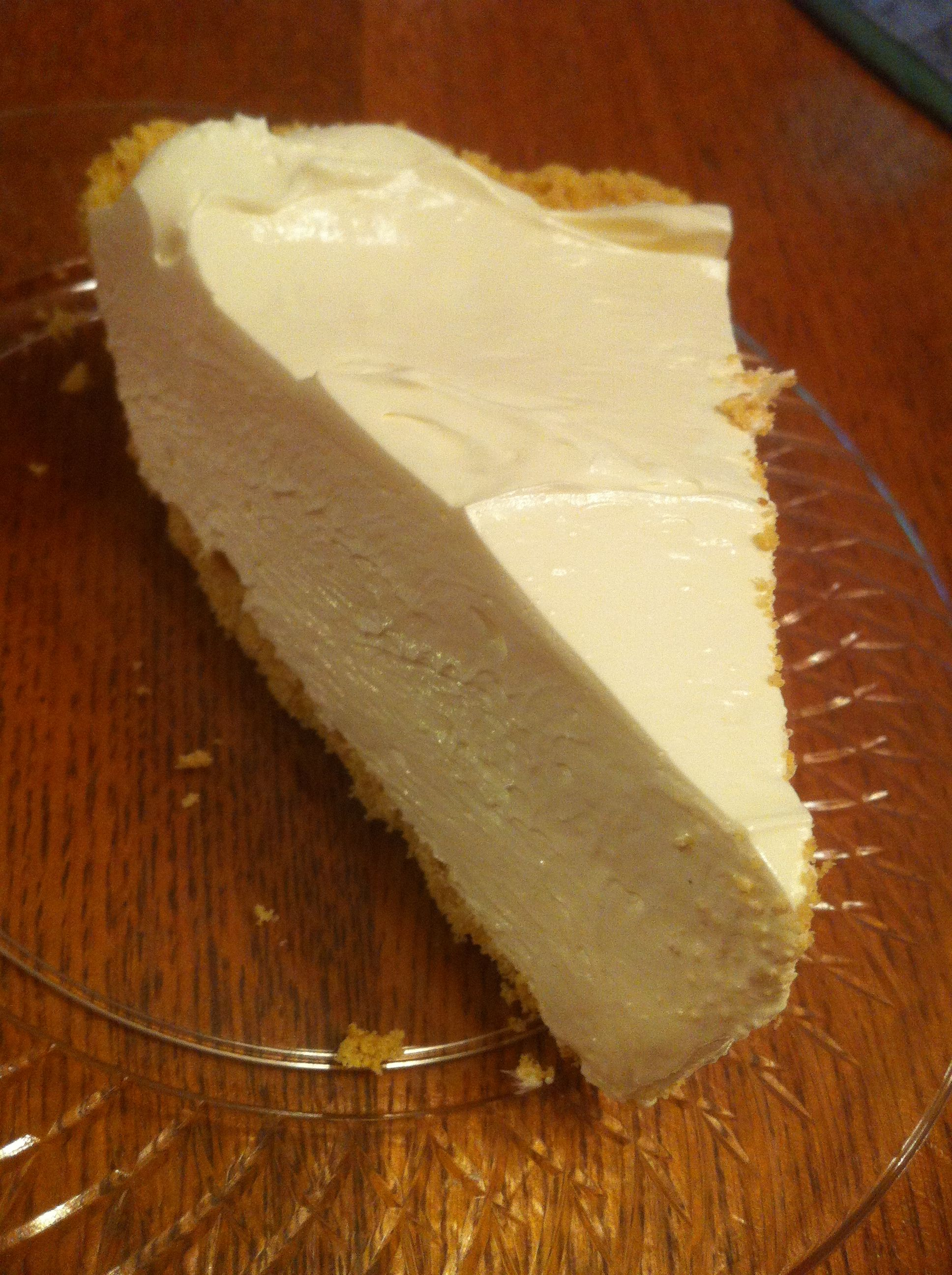 1 8 oz. tub Cool Whip  1 can sweetened condensed milk  1 pkg Kool-Aid (any flavor)  1 Graham Cracker Pie Crust