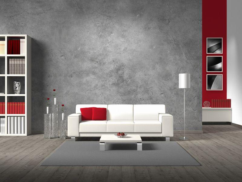 #Déco #design Gris Rouge Et Blanc