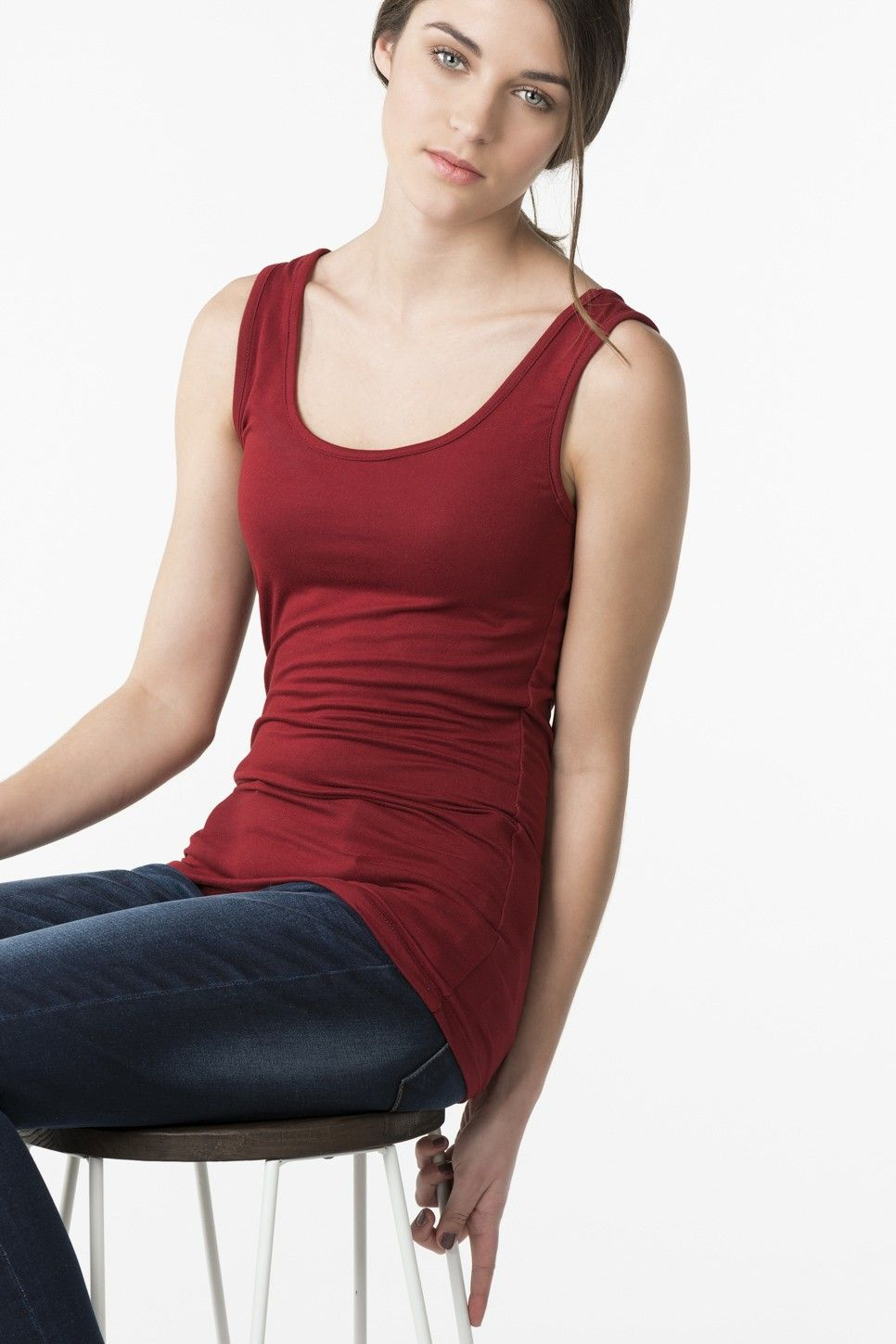 Super soft dark red tank clothes and dresses and more pinterest