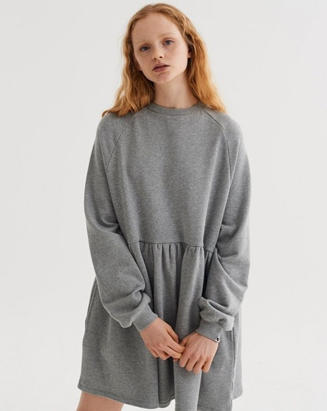 b8809d406 LO Basics Grey Oversized Sweater Dress - View all - New In - Womens ...