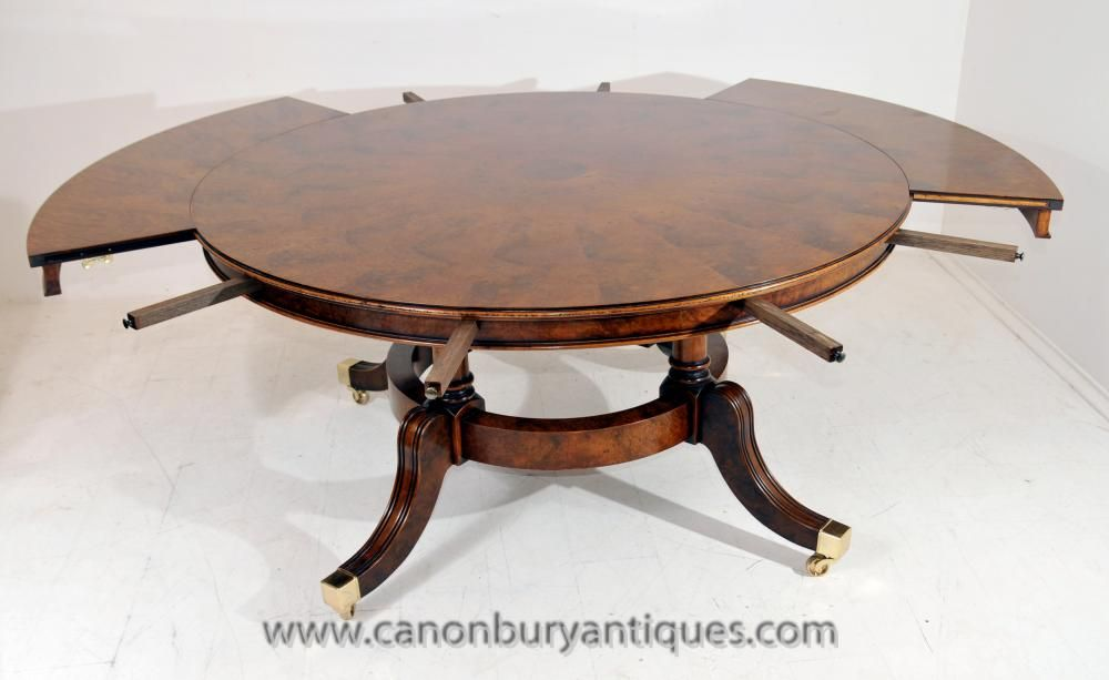 Canonbury Regency Extending Jupes Dining Table In Walnut Round Tables Dining Table Table Dining