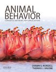 Animal Behavior: Concepts, Methods, and Applications by Shawn E. Nordell and Thomas J. Valone. QL751 .N74 2014