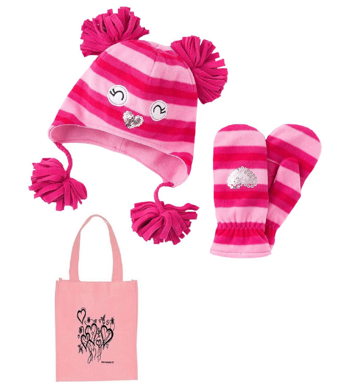 59f225d423b Jumping Beans Little Girl s Owl Fleece Hat
