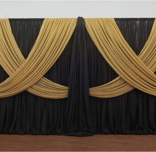 Premium Criss Cross Curtain 2 Panel Backdrop Height 6