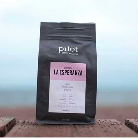 Digging our Colombia La Esperanza - an exceptionally sweet washed coffee. #pilotcoffee
