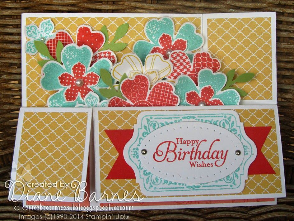 Flower Shop Long Card In A Box With Template Box Cards Tutorial Fancy Fold Cards Card Box