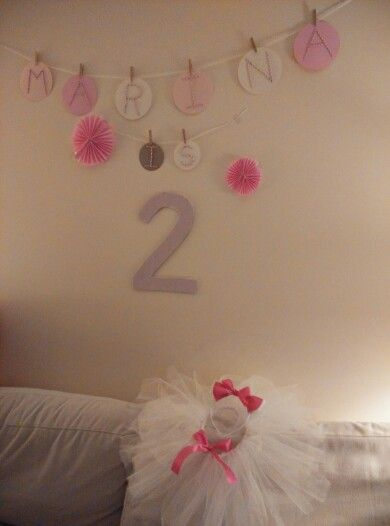 birthday banner for 2 year old