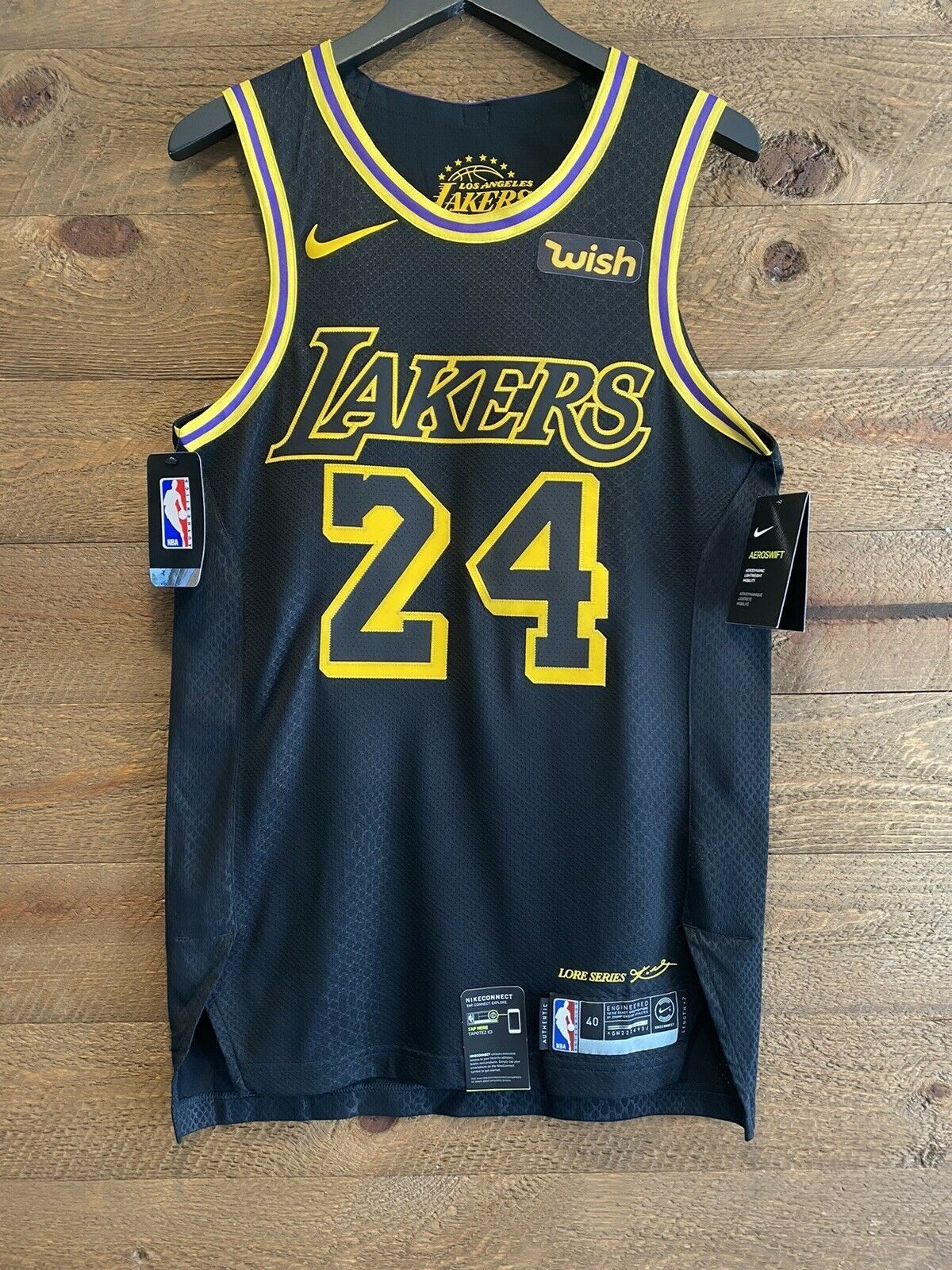 Kobe Bryant City Edition Authentic Los Angeles Lakers Men S Nike Nba Connected Jersey Los Angeles Lakers Kobe Bryant 24 Lakers Kobe Bryant