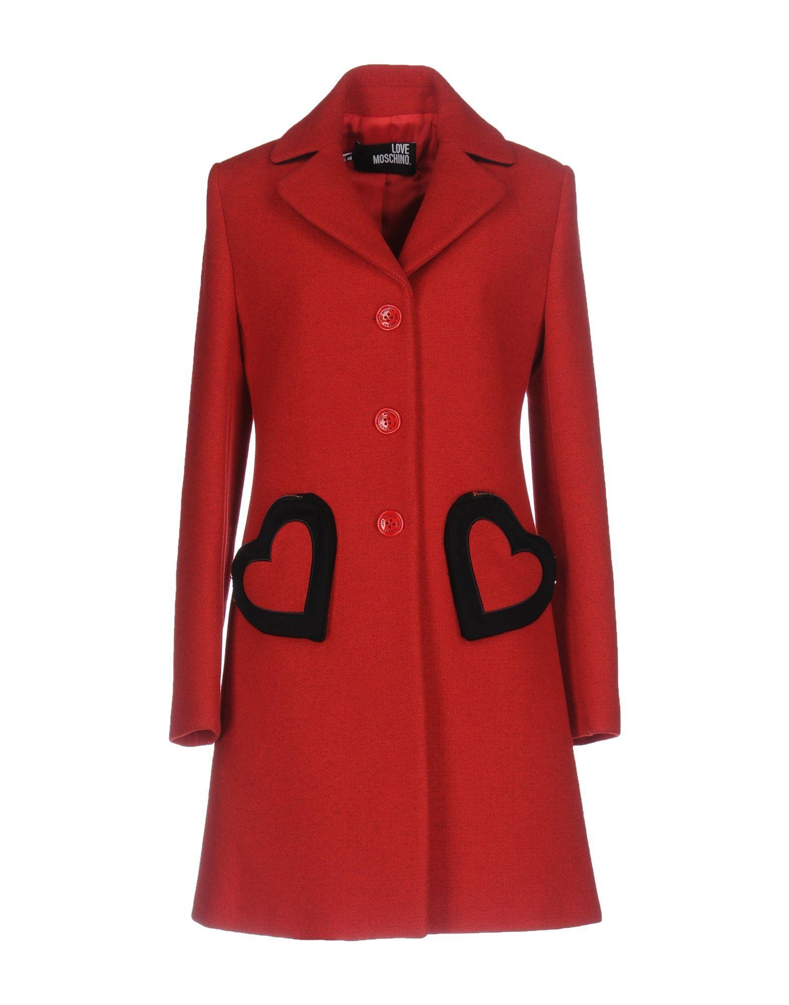 0638cf4927902 Love Moschino Full-Length Jacket - Women Love Moschino Full-Length Jackets  online on YOOX United States - 41737962