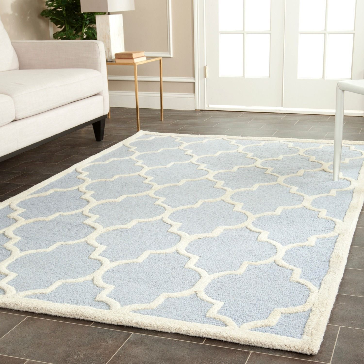 Safavieh Handmade Cambridge Moroccan Light Blue Wool Indoor Rug 4 X 6 By