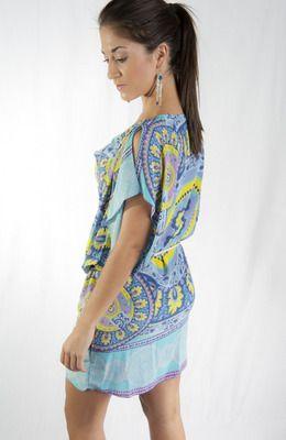 silk paisley dress by single