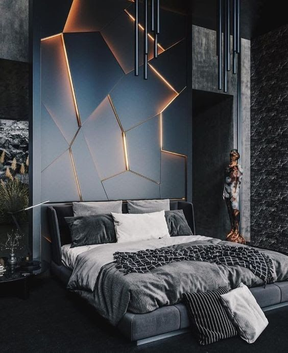 Led Strip Light W Remote Control Bedroom Design Styles Modern Bedroom Minimalism Interior