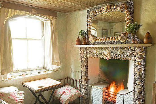 For The Small Cottage On The Beach Home Living Room Fireplace