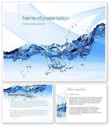 Crystal Water Powerpoint Template With Crystal Water Powerpoint