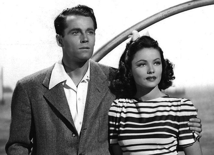 Gene Tierney & Henry Fonda (Rings on Her Fingers 1942) Rouben Mamoulian. Photo 20th Century Fox Film.