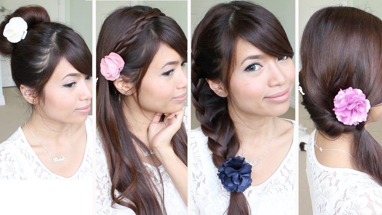 Quick u easy backtoschool hairstyles for medium long hair tutorial