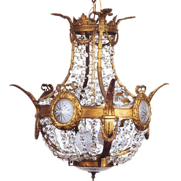 A Fine Louis XVI Style Bronze & Crystal Chandelier | From a unique collection of antique and modern chandeliers and pendants  at https://www.1stdibs.com/furniture/lighting/chandeliers-pendant-lights/ A Fine Louis XVI Style Bronze & Crystal Chandelier  Offered By Le Trianon  $9,500