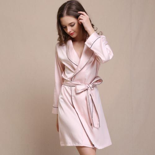 2dc2152ecf Silk Bathrobe Women Satin Kimono Robes For Women Robes Bridesmaids Long  Kimono Robe Bride Silk Robe Dressing Gown