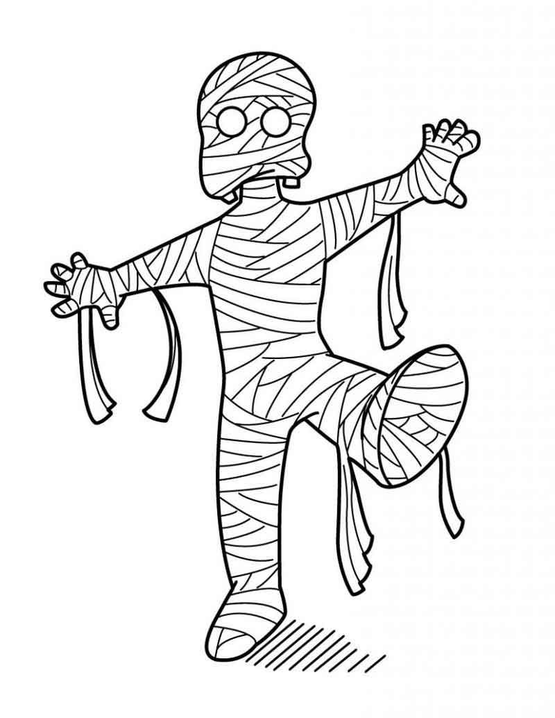 Mummy Coloring Page From Cartoon Coloring Pages Category Find Out