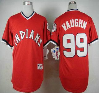 cleveland indians jersey 99 rick vaughn 1974 turn back the clock red jerseys