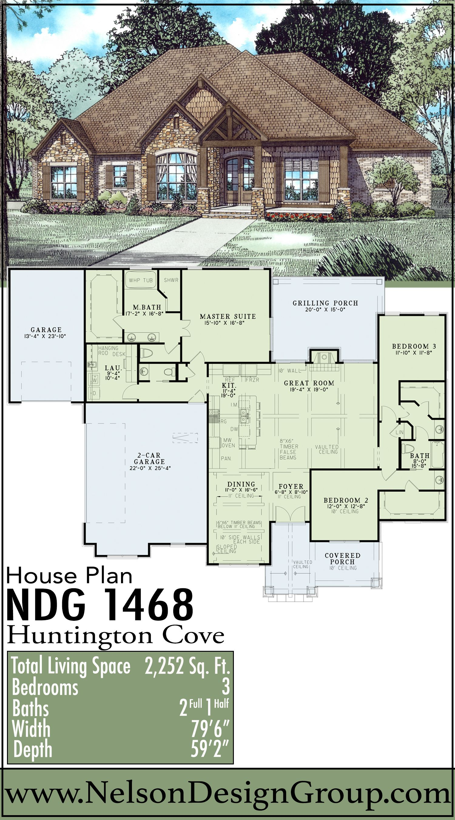 Rustic Ridge Collection House Plan 1468