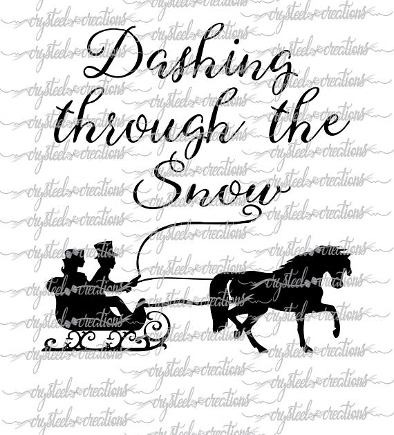 Dashing Through The Snow Svg Png Silhouette Cricut Etsy In 2020 Dashing Through The Snow Cricut Svg