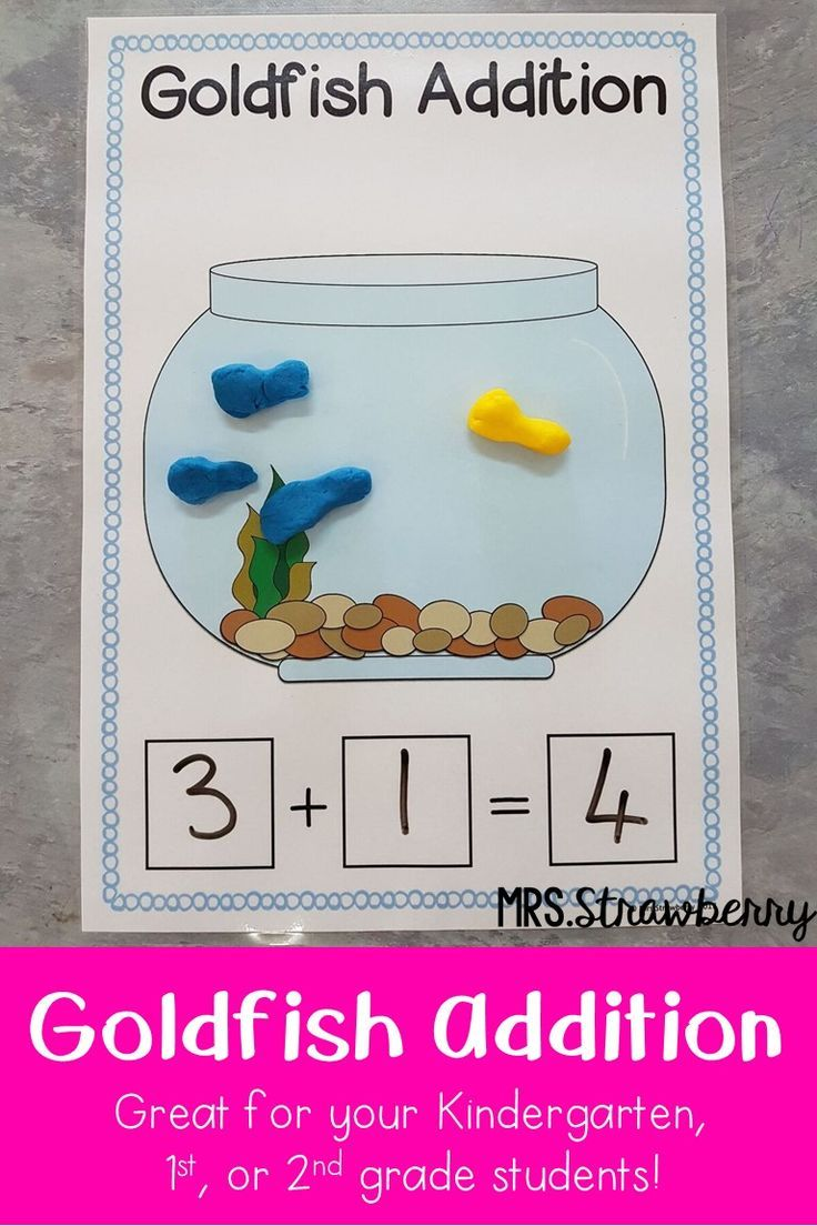 Goldfish Addition Activity | Addition activities, Goldfish and ...