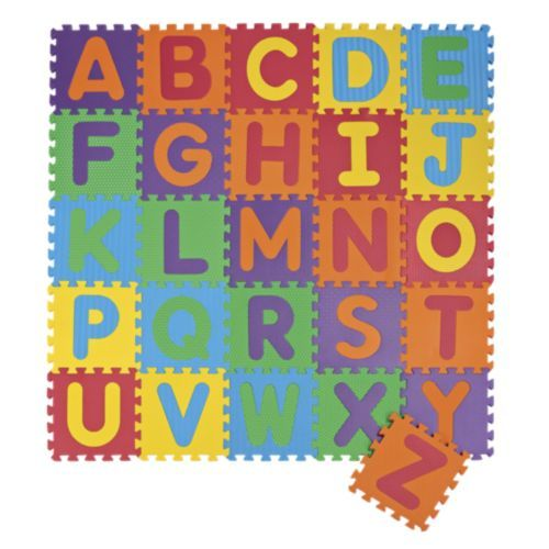 26 Piece Foam Puzzle Play Mat Letters Play Mat Playroom Decor Kids Playground