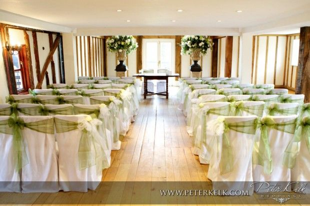 Chair Covers In The Ceremony Room At Vaulty Manor Essex Chair - Wedding chair covers essex
