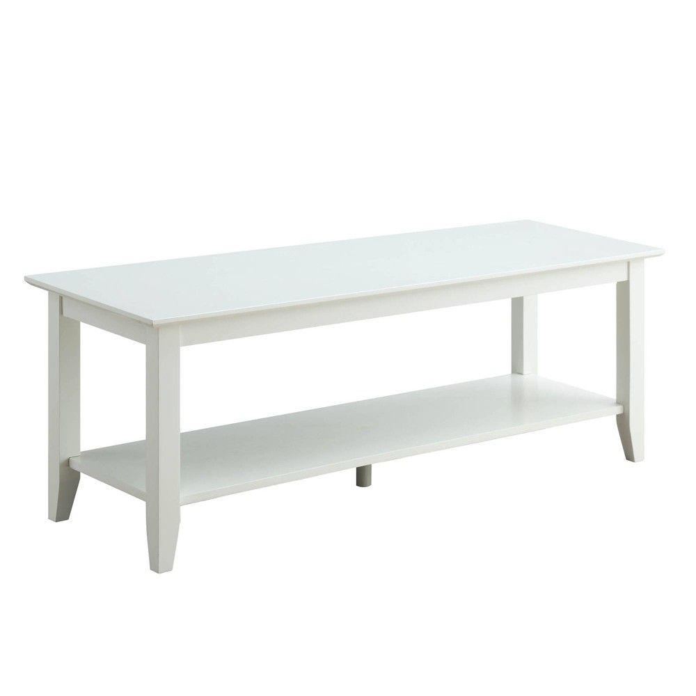 American Heritage Furniture Tampa: American Heritage Coffee Table With Shelf White