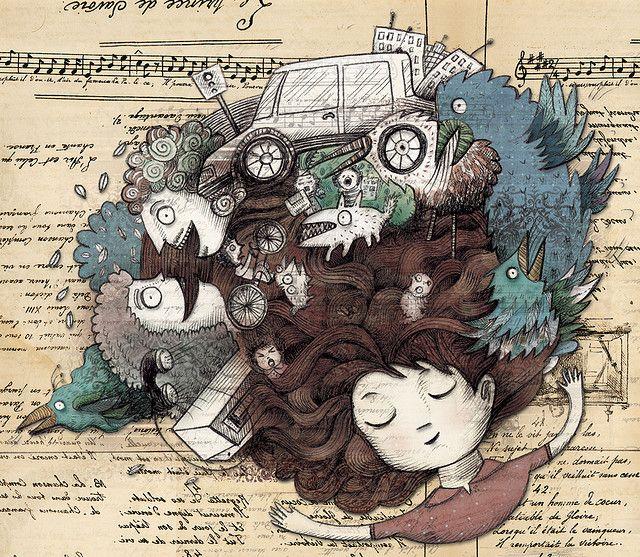 Los sonidos de la calle, ilustración para Oxford University Press.
