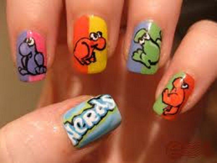 Funny Animal Theme of Cute Nail Designs for Kids   B E A U T Y: Nail ...