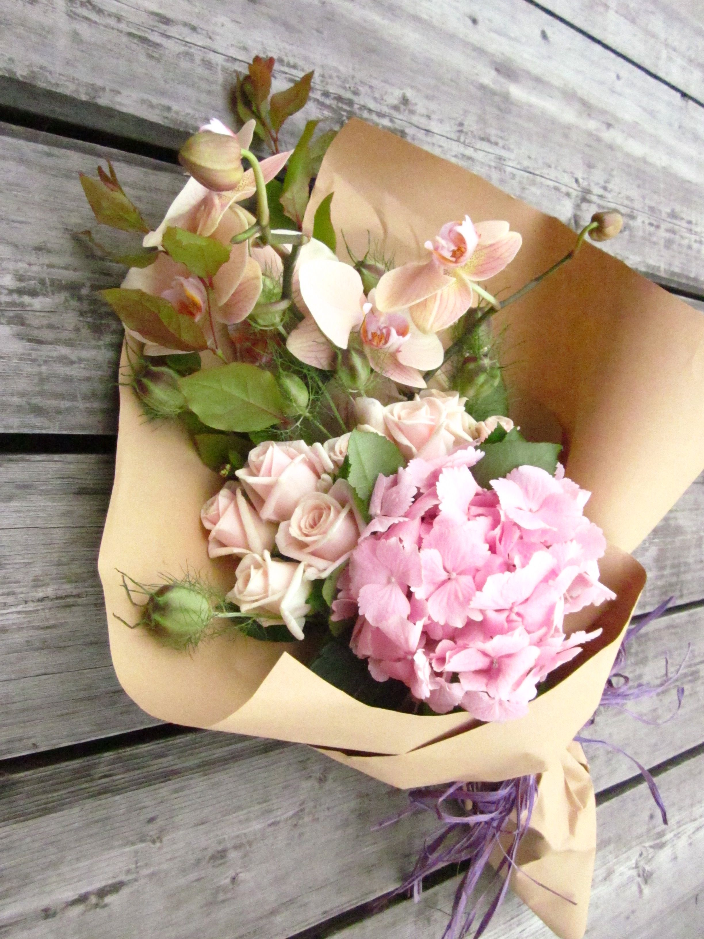 Flowers Wrapped In Brown Paper Simply Awesome Pinterest