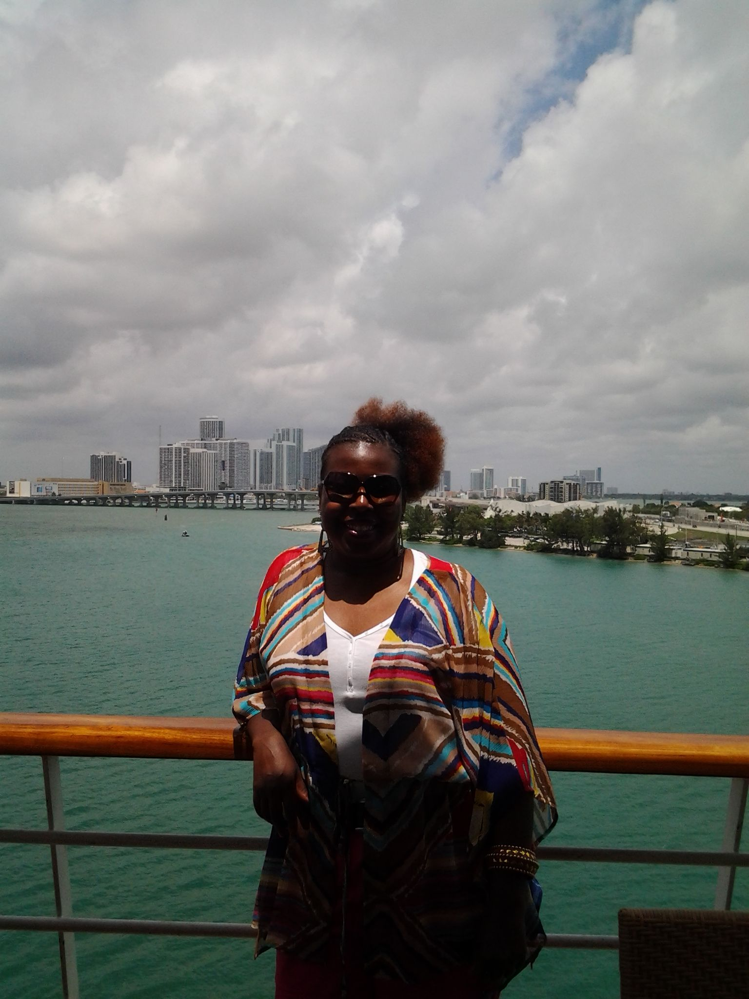 This is my first cruise, I am soo excited!!! Miami is to my rear, and I'm heading to Key West, Fl & Cozumel, Mexico.  www.seetheworldnstyle.com